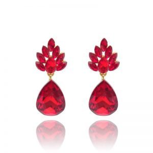 Red Drop Earrings