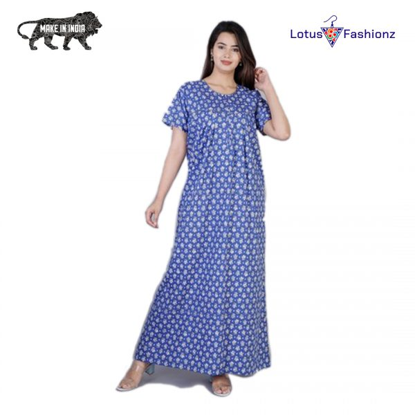 blue nighty for indian women