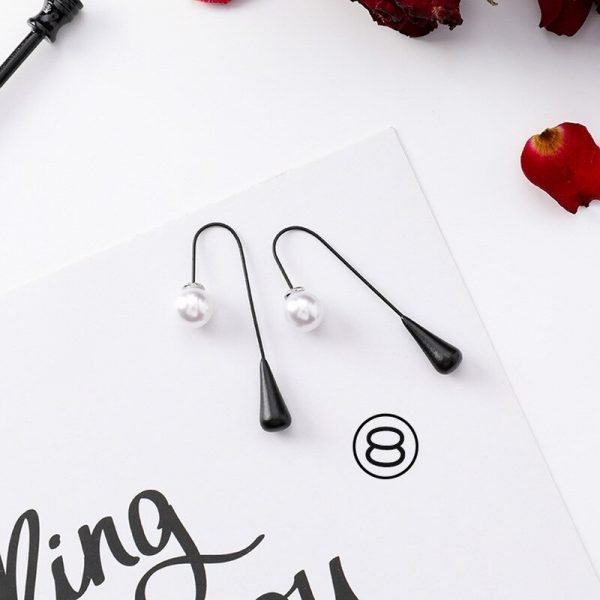15415 9dbed0 600x600 - Girl Earrings Black Geometry Drop Earrings