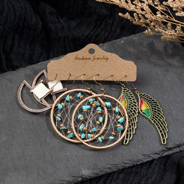 15420 a54dec 600x600 - Multiple Women's  Boho Ethnic Drop Earrings