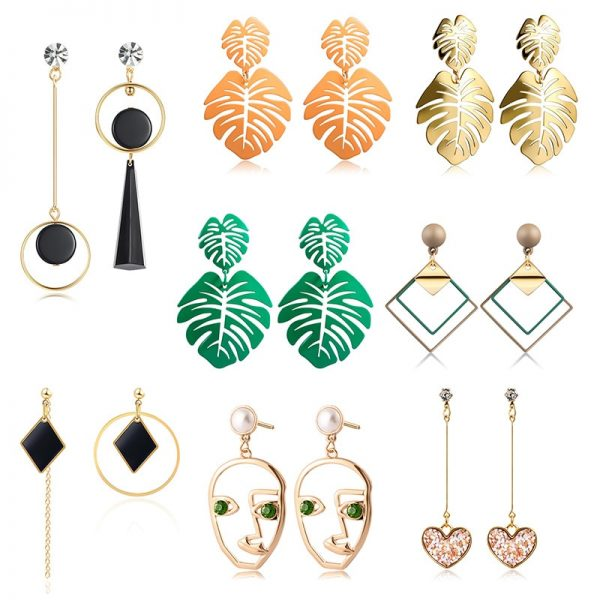 15425 73e97f 600x600 - Vintage Geometric Acrylic Dangle Hanging Earring Jewelry