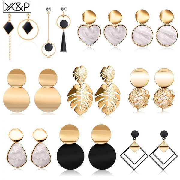 15425 99e1e3 600x600 - Vintage Geometric Acrylic Dangle Hanging Earring Jewelry