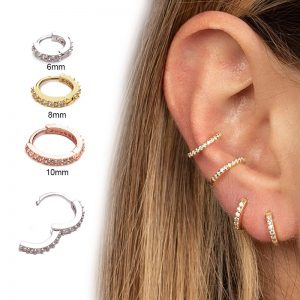 16157 5ff3d3 300x300 - Sellsets New Arrival 1pc 6mm/8mm/10mm Cz Hoop Cartilage Earring Helix Tragus Daith Conch Rook Snug Ear Piercing Jewelry