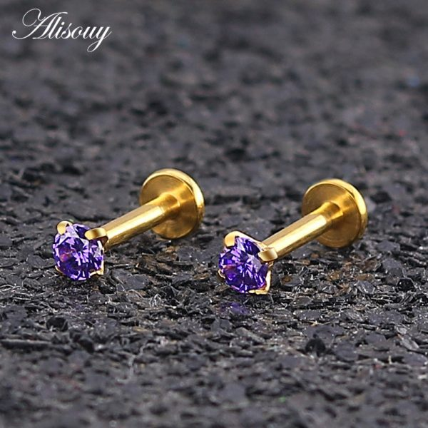 16231 3b0892 600x600 - Alisouy 1pc Surgical Steel Ear Cartilage Tragus Helix Piercing Labret Lip Studs Ring Internally Thread 16g 6/8/10mm Body Jewelry