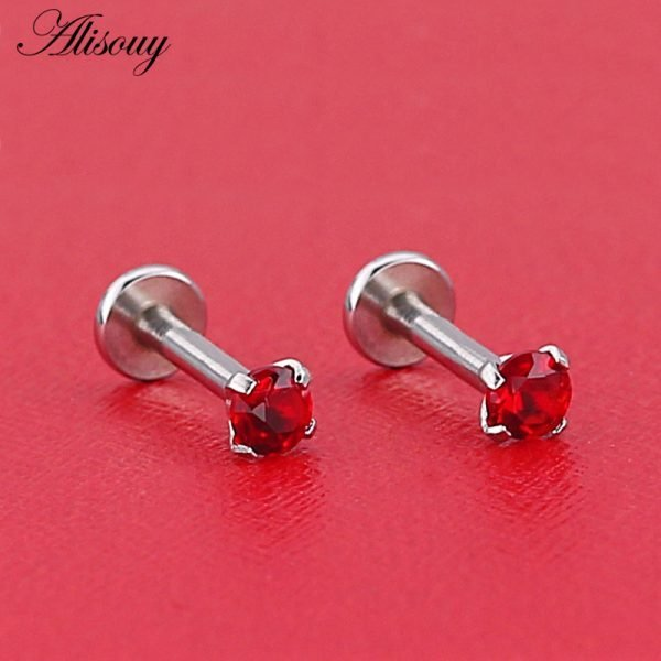 16231 fd271b 600x600 - Alisouy 1pc Surgical Steel Ear Cartilage Tragus Helix Piercing Labret Lip Studs Ring Internally Thread 16g 6/8/10mm Body Jewelry