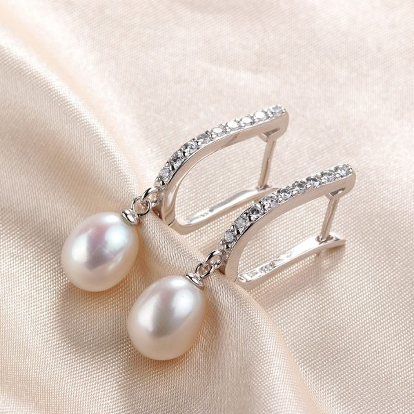 16862 6a5a33 600x600 - Women Freshwater Pearl Earrings Zircon Fashion 925 Sterling Silver Drop Earring White Real Pearl Wedding  Jewelry With Box
