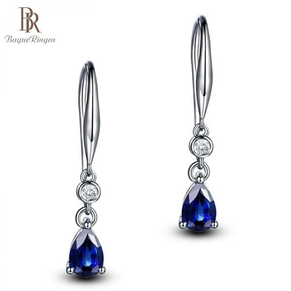 16931 49cd0f 600x600 - Bague Ringen Silver 925 Jewelry Earrings Sapphire Siver Korean Ear Jewelry  Purple/Blue/Yellow Color Party Dating Gift Wholesale