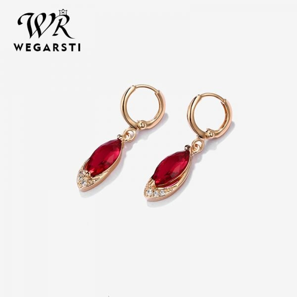 16983 56f702 600x600 - WEGARASTI Silver 925 Jewelry Earrings Ruby Fine Jewelry Classic Vintage Earring Party Pomegranate Sterling silver Red Earrings