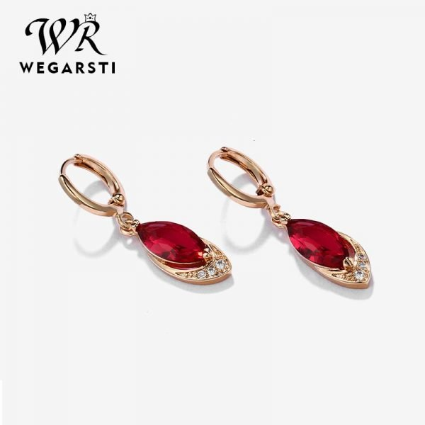 16983 620609 600x600 - WEGARASTI Silver 925 Jewelry Earrings Ruby Fine Jewelry Classic Vintage Earring Party Pomegranate Sterling silver Red Earrings