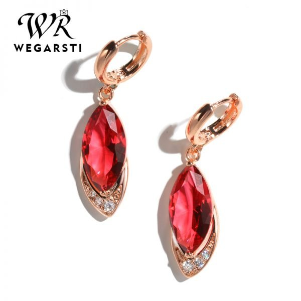 16983 76d53d 600x600 - WEGARASTI Silver 925 Jewelry Earrings Ruby Fine Jewelry Classic Vintage Earring Party Pomegranate Sterling silver Red Earrings