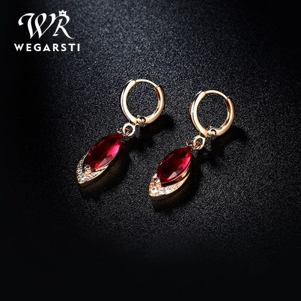 16983 fcc998 600x600 - WEGARASTI Silver 925 Jewelry Earrings Ruby Fine Jewelry Classic Vintage Earring Party Pomegranate Sterling silver Red Earrings