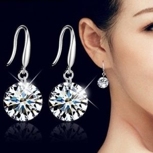 16995 aad062 300x300 - LEKANI Hot Fashion jewelry 925 silver Earrings Female Crystal from Swarovski New woman name earrings Twins micro set