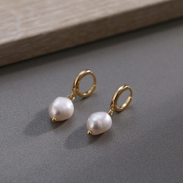17002 25dfeb 600x600 - Pearl earrings for Women 14KGF Earrings White natural 100% Freshwater pearl jewelry wedding party Girl gift