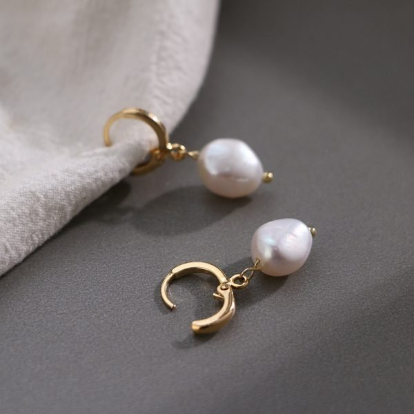 17002 8732c5 600x600 - Pearl earrings for Women 14KGF Earrings White natural 100% Freshwater pearl jewelry wedding party Girl gift