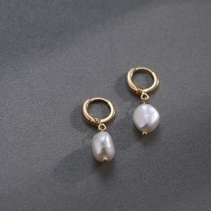 17002 d67ba5 300x300 - Pearl earrings for Women 14KGF Earrings White natural 100% Freshwater pearl jewelry wedding party Girl gift