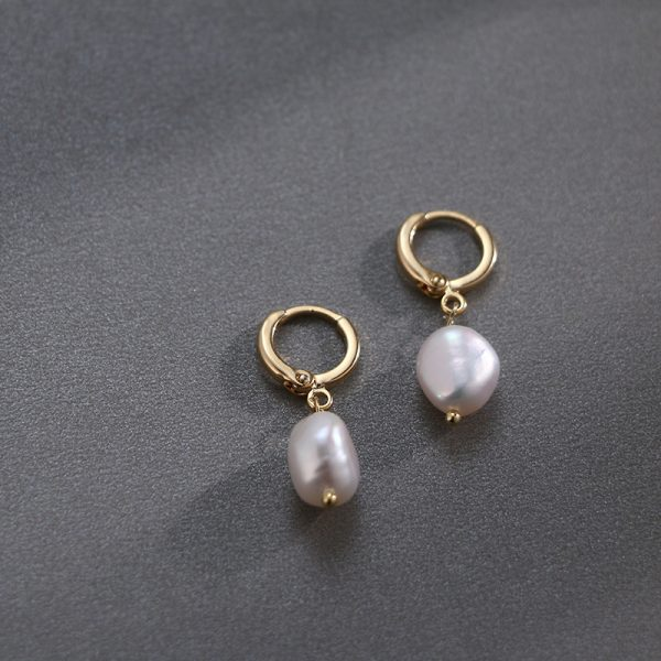 17002 d67ba5 600x600 - Pearl earrings for Women 14KGF Earrings White natural 100% Freshwater pearl jewelry wedding party Girl gift
