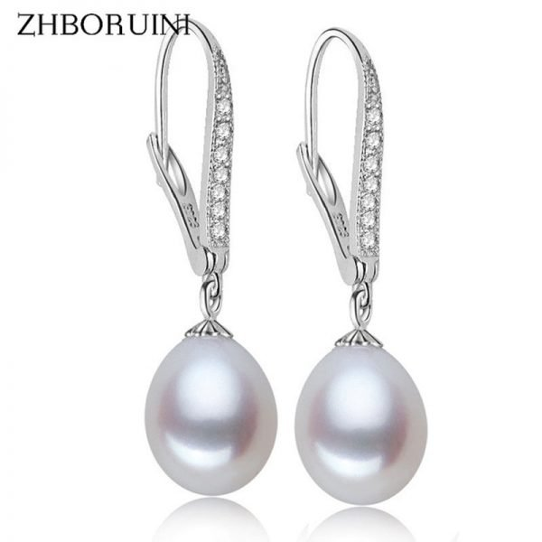 17144 3e9cf8 600x600 - ZHBORUINI Fashion Pearl Earrings Natural Freshwater Pearl Pearl Jewelry Drop Earrings 925 Sterling Silver Jewelry For Woman Gift