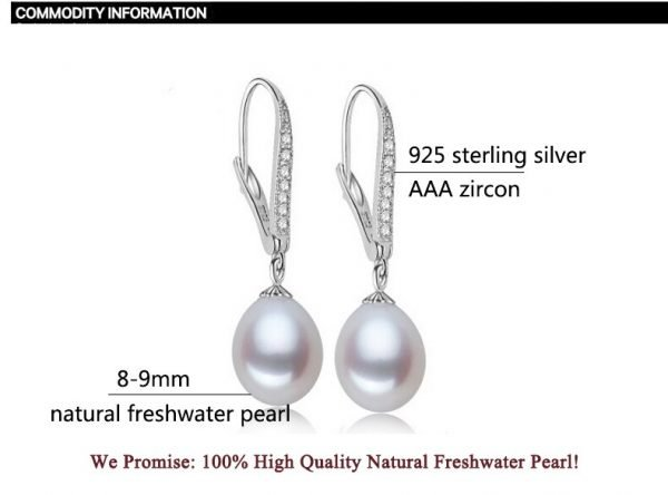17144 f6bea1 600x444 - ZHBORUINI Fashion Pearl Earrings Natural Freshwater Pearl Pearl Jewelry Drop Earrings 925 Sterling Silver Jewelry For Woman Gift