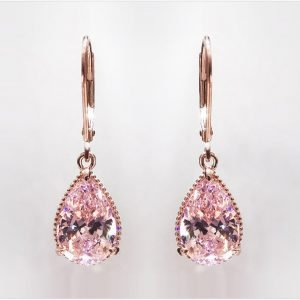 17155 56ae7e 300x300 - 14K Rose Gold Pink Diamond Earring for Women Fashion Pink Topaz Gemstone Bizuteria 14K Gold Garnet Drop Earring Orecchini Girls
