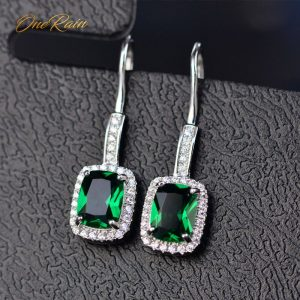 17244 a7c79d 300x300 - OneRain 100% 925 Sterling Silver 6 * 8 MM Emerald Citrine Sapphire Gems Drop Dangle Hook Earrings For Women Jewelry Wholesale