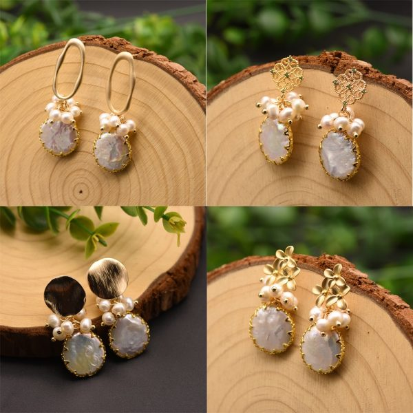 17278 3ae36d 600x600 - GLSEEVO Natural Fresh Water Baroque Pearl Earrings For Women Plant Leaves Dangle Earrings Luxury Handmade Fine Jewelry GE0308