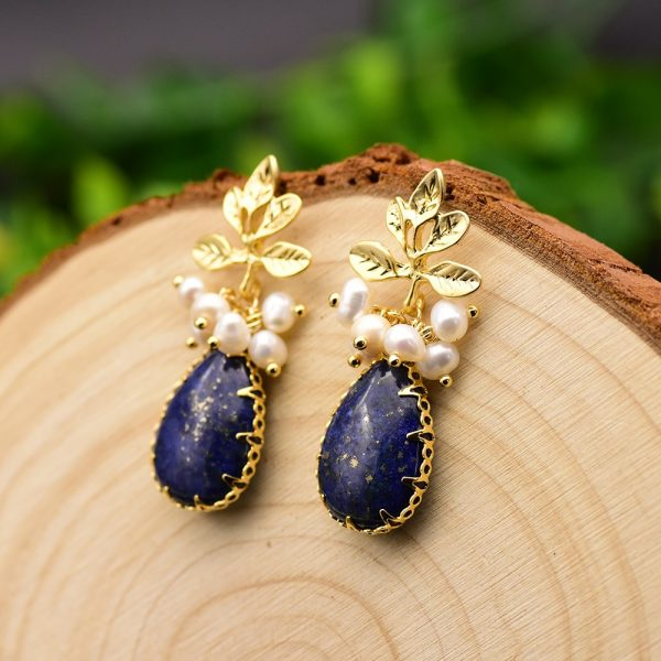 17278 b58d25 600x600 - GLSEEVO Natural Fresh Water Baroque Pearl Earrings For Women Plant Leaves Dangle Earrings Luxury Handmade Fine Jewelry GE0308