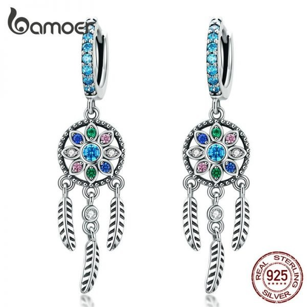 17327 0e61a4 600x600 - Dream Catcher Hanging Drop Earrings