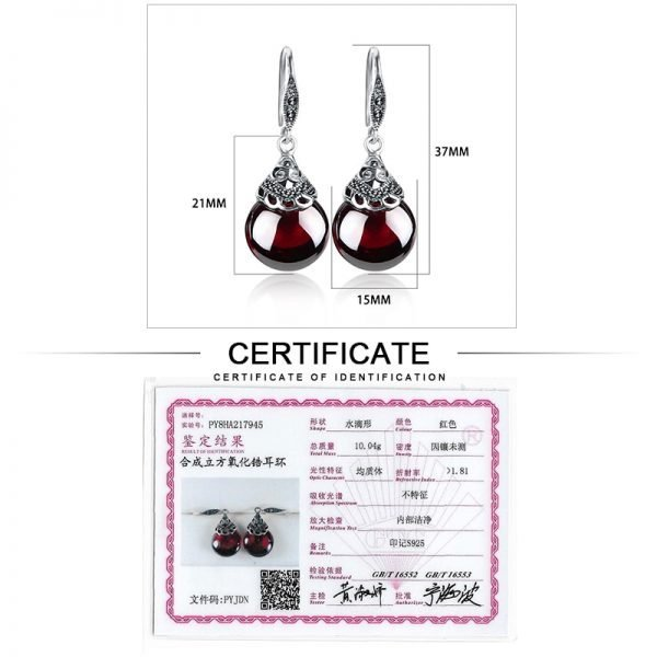 17345 4129d7 600x600 - JIASHUNTAI Retro 100% 925 Sterling Silver Round Garnet Drop Earrings For Women Natural Red Gemstone Ruby Fine Jewelry Best Gifts