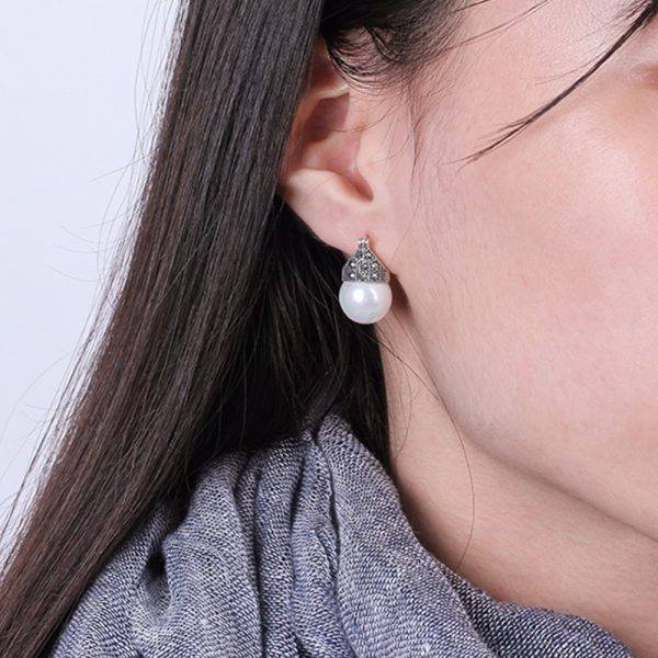 17367 b573a2 600x600 - Lotus Fun Real 925 Sterling Silver Natural Mother of Pearl Earrings Fine Jewelry Vintage Fashion Drop Earrings for Women Brincos