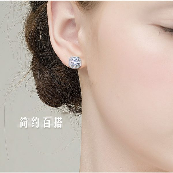 17378 5e6093 600x600 - 2020 New Fashion jewelry 925 silver Needle Hollow Carved Earrings Female Crystal from Swarovskis Woman Christmas gift