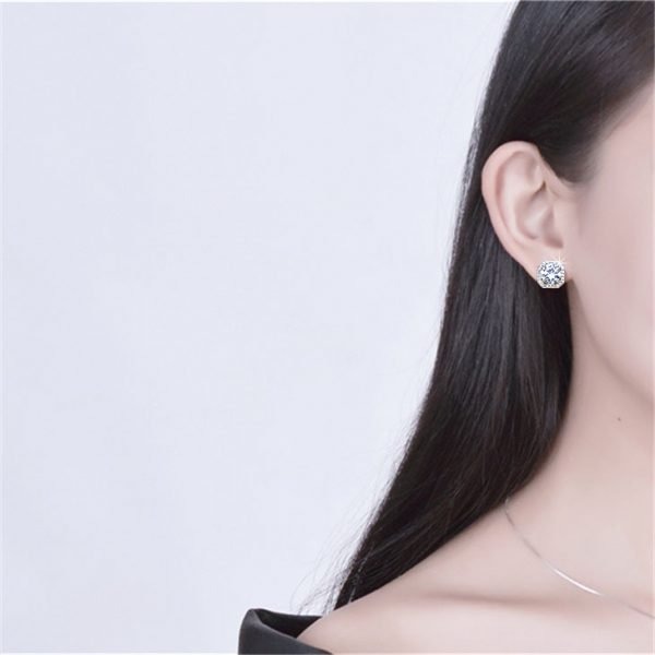 17378 a8e895 600x600 - 2020 New Fashion jewelry 925 silver Needle Hollow Carved Earrings Female Crystal from Swarovskis Woman Christmas gift