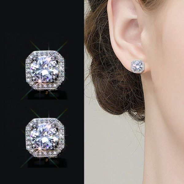 17378 e1ce2c 600x601 - 2020 New Fashion jewelry 925 silver Needle Hollow Carved Earrings Female Crystal from Swarovskis Woman Christmas gift