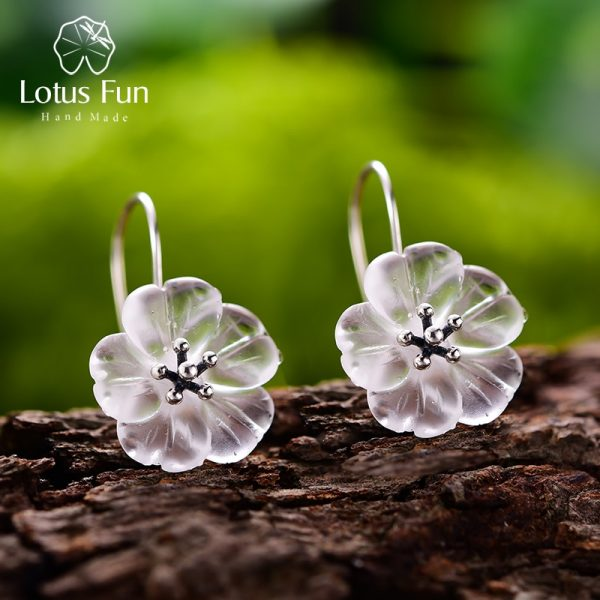 17385 c83503 600x600 - Lotus Fun Real 925 Sterling Silver Earrings Handmade Designer Fine Jewelry Flower in the Rain Fashion Dangle Earrings for Women