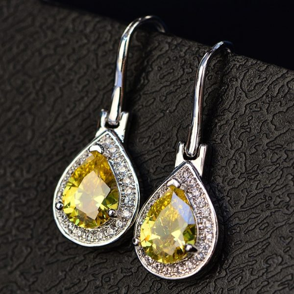 17411 66c782 600x600 - OneRain 100% 925 Sterling Silver Water Drop Sapphire Citrine Topaz Amethyst Gemstone Drop Dangle Hook Earrings Jewelry Wholesale