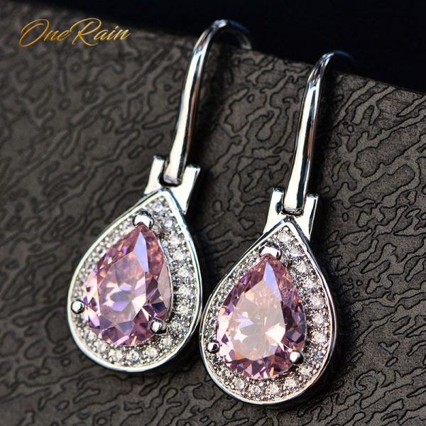 17411 81a1ee 600x600 - OneRain 100% 925 Sterling Silver Water Drop Sapphire Citrine Topaz Amethyst Gemstone Drop Dangle Hook Earrings Jewelry Wholesale