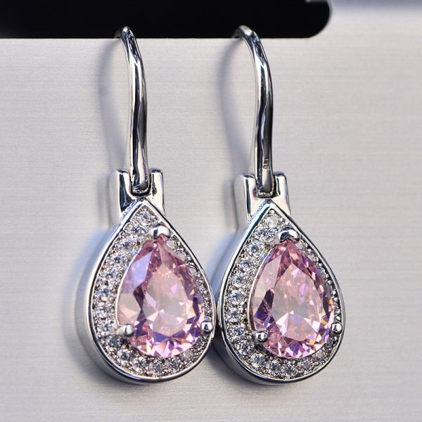 17411 8aa779 600x600 - OneRain 100% 925 Sterling Silver Water Drop Sapphire Citrine Topaz Amethyst Gemstone Drop Dangle Hook Earrings Jewelry Wholesale