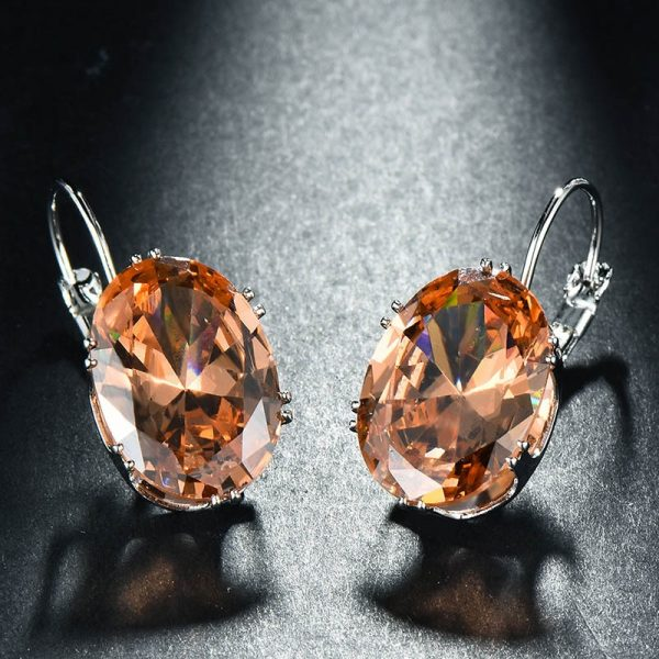 17424 7ea7ab 600x600 - Cellacity Korean 925 silver Earrings with oval citrine gemstone  Engagement Earrings Drop Earrings For Women Jewelry wholesale