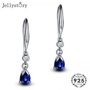 17468 7a0945 300x300 - Jellystory Trendy Silver 925 jewelry Earring with Water Drop Shaped Sapphire Gemstones Earrings for Women Weddings Party Gifts