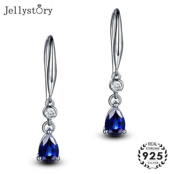 17468 7a0945 600x600 - Jellystory Trendy Silver 925 jewelry Earring with Water Drop Shaped Sapphire Gemstones Earrings for Women Weddings Party Gifts