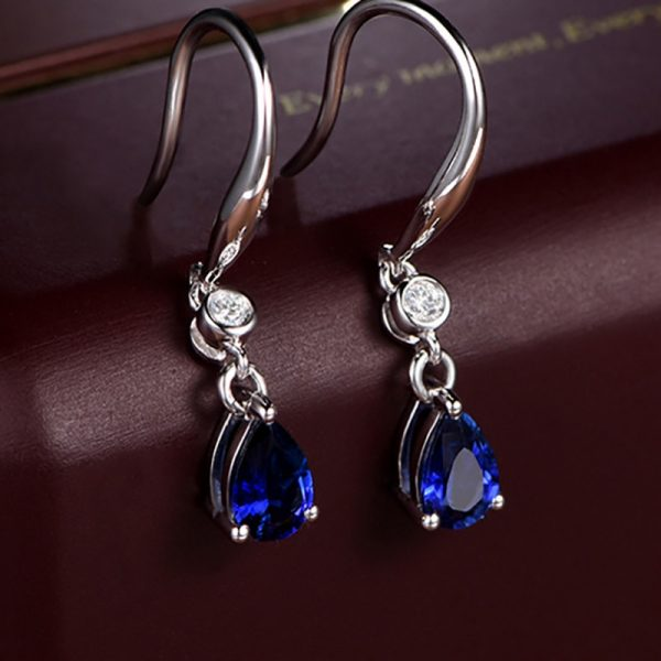 17468 7a4520 600x600 - Jellystory Trendy Silver 925 jewelry Earring with Water Drop Shaped Sapphire Gemstones Earrings for Women Weddings Party Gifts