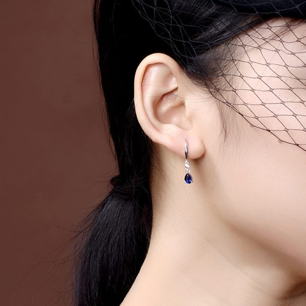 17468 9dec55 600x600 - Jellystory Trendy Silver 925 jewelry Earring with Water Drop Shaped Sapphire Gemstones Earrings for Women Weddings Party Gifts