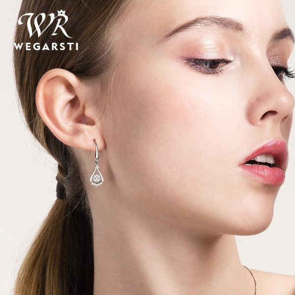 17538 34b34d 600x600 - WEGARASTI Silver 925 Jewelry Zircon Drop Earrings For Women Real 100% Silver Earring Wholesale Party Wedding Gift Earring Silver