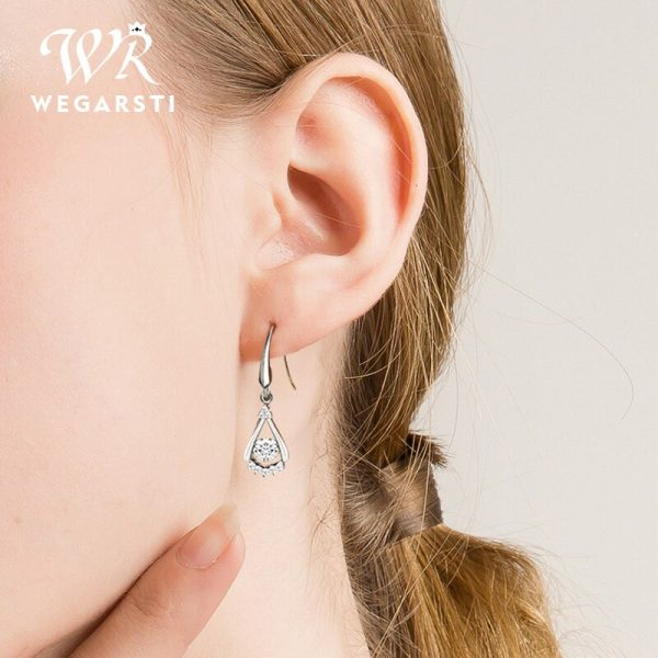 17538 6c67f1 600x600 - WEGARASTI Silver 925 Jewelry Zircon Drop Earrings For Women Real 100% Silver Earring Wholesale Party Wedding Gift Earring Silver