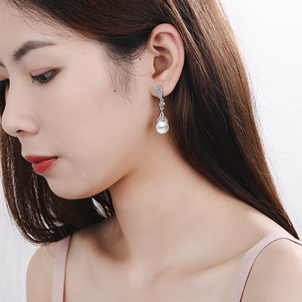 17546 c87a93 600x600 - Classic 925 Silver Drop Earrings