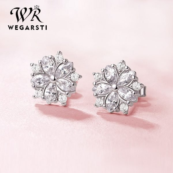 17555 042010 600x600 - WEGARASTI Silver 925 Jewelry Earrings Woman Pink Cherry Earring 925 Sterling Silver Earrings Wedding Earring