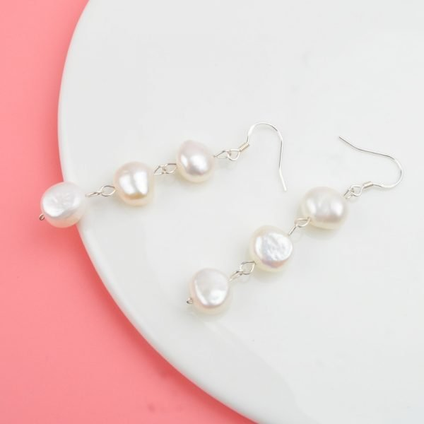 17585 20ad4f 600x600 - ASHIQI Natural Freshwater Pearl Earrings Real 925 Sterling Silver long korean earrings for Women Big Baroque pearl Jewelry Gift