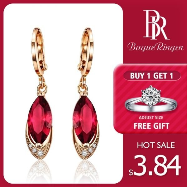 17644 8554ca 600x600 - Begua Ringen Classic Design 925 sterling silver restoring ancient pomegranate red corundum earring