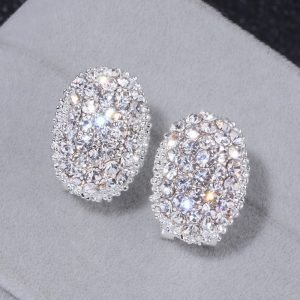 19791 7770ed 300x300 - Classic Design Romantic Jewelry 2018 Silver Color AAA Cubic Zirconia Stone Stud Earrings For Women Elegant Wedding Jewelry WX023