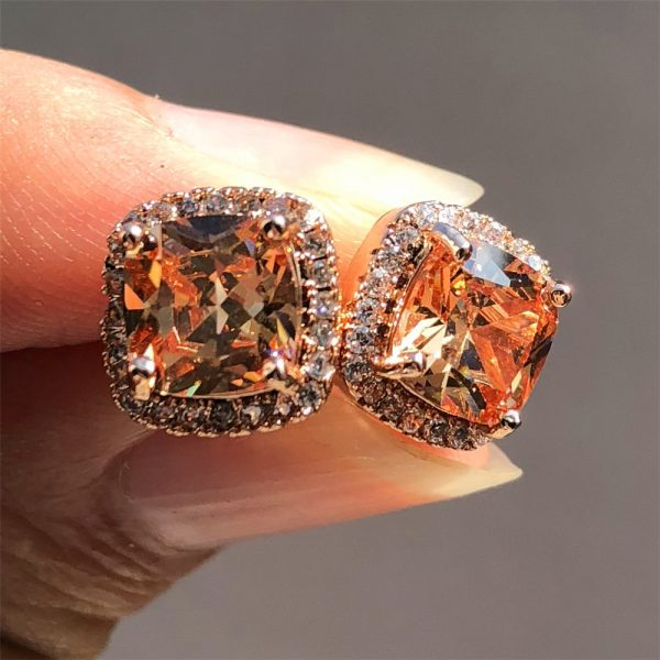 19798 5f08cc 600x600 - Luxury Female Crystal Zircon Stone Earrings Fashion 925 Sterling Silver Filled Jewelry Vintage Double Stud Earrings For Women