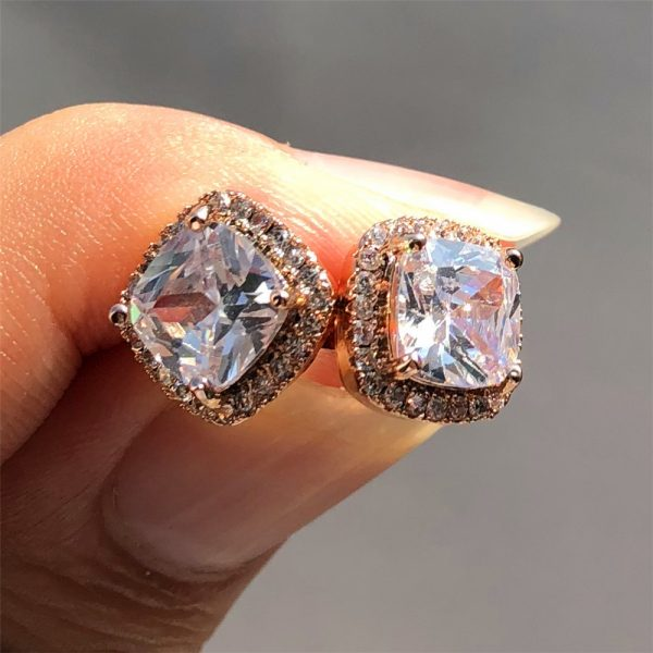 19798 f638d0 600x600 - Luxury Female Crystal Zircon Stone Earrings Fashion 925 Sterling Silver Filled Jewelry Vintage Double Stud Earrings For Women